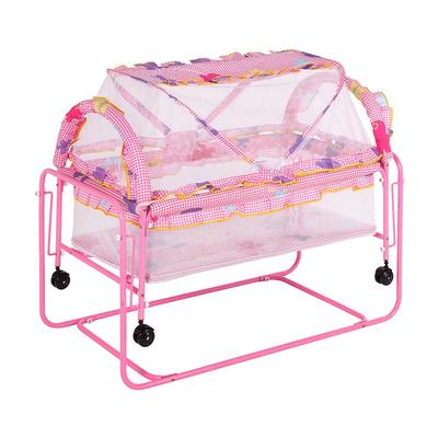 Multi functional iron baby bed foldable baby bed with mosquito net #CMC707-2