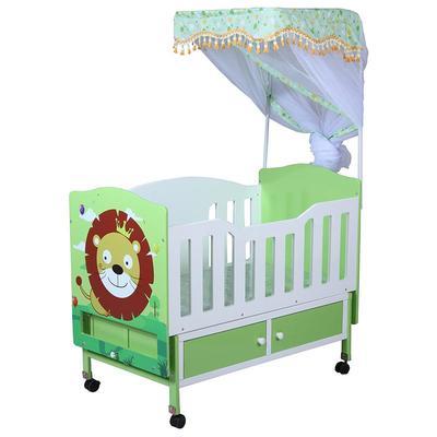Carton baby solid wood swing bed adjustable baby crib #CWC5382-6