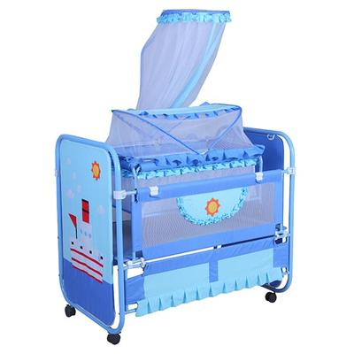 Multi functional kids crib metal baby bed with mosquito net #MMC9747