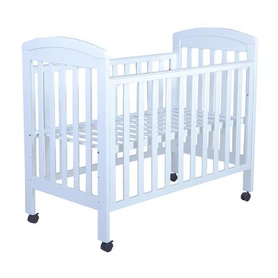 European style multi functional wooden white color baby bed all wood crib#MWC6015
